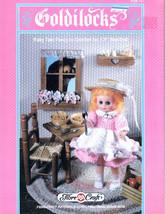 """CROCHET 13"""" BED  DOLL GOLDILOCKS * FIBRE CRAFT CLOTHES 1988 PATTERNS OOP - $7.99"""
