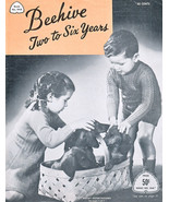 BEEHIVE KNIT FOR BOY & GIRL 'TWO TO SIX YEARS' #44A VINTAGE PATONS - $9.98