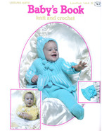 BABY'S BOOK LEISURE ARTS KNIT & CROCHET 1979 BLANKET SWEATER SETS BUNTIN... - $9.99