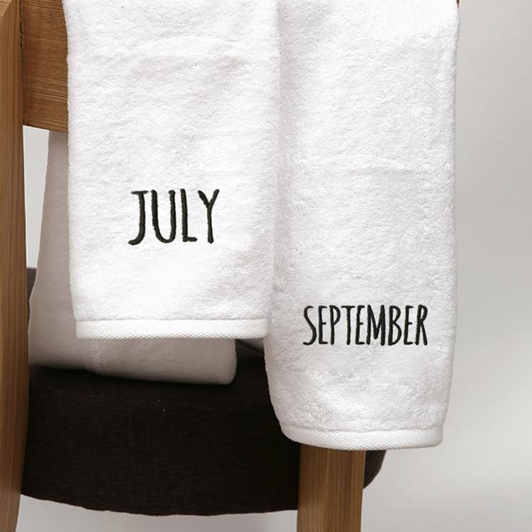 12 month Cotton Embroidery Towel High Quality
