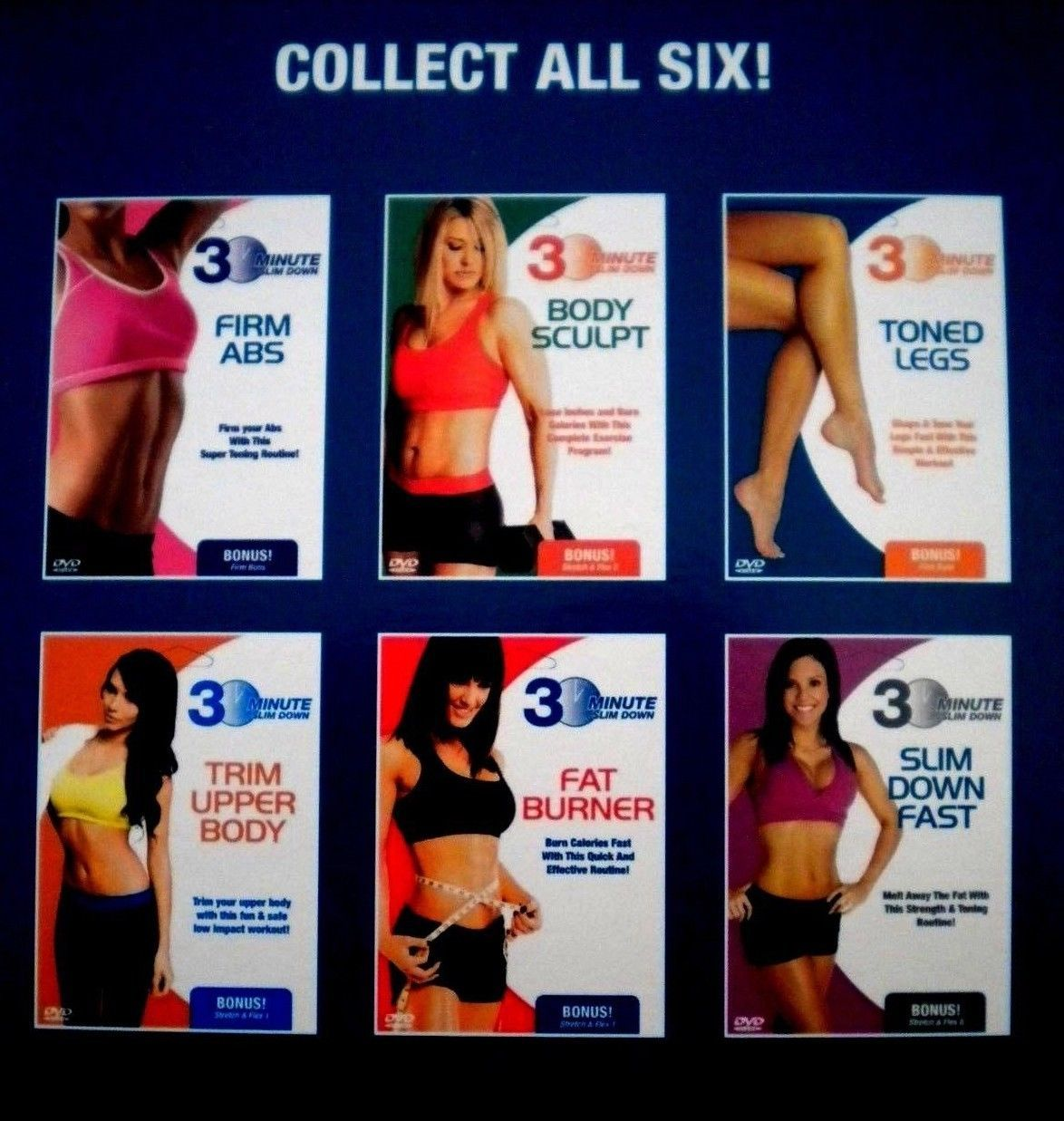 30 Minute Slim Down Fast and Stretch and Flex 2 DVD ...
