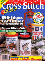 CROSS STITCH DAD GIFTS SPORTS CATS! FLOWER SACHETS SAMPLERS PLUS MAG MAY... - $6.98