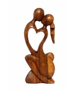 "12"" Modern Abstract Sculpture Statue Hand Carved ""Endless Love"" Gift Decor - $34.99"