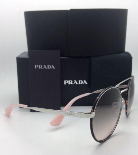 Nuevo Prada Gafas de Sol Spr 51S 2AU-4K0 54-22 Plata & Carey con / Gris Fundido