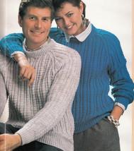 Patons 15 Larger Size Knit Patterns #274 Outsize Men Women Cardigan Vest Pullovr - $8.98