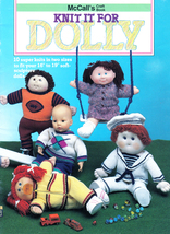 MCCALL'S KNIT IT FOR DOLLY DOLL SOFT SCULPT CPK COAT HAT DRESS SAILORSUI... - $9.98