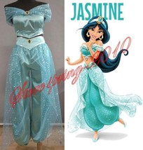Aladdin Princess Jasmine Cosplay Costume Adult Custom made costume New S... - $34.99
