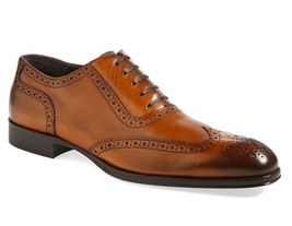 Mens fashion Oxford leather shoes,men formal laceup brogue wingtip leath... - $169.99