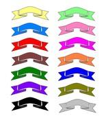 Mix Colors Ribbons6-Digital Download-ClipArt-Ar... - $3.85