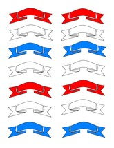 Red white Blue Ribbons4-Digital Download-ClipArt-ArtClip-Digital - $3.99