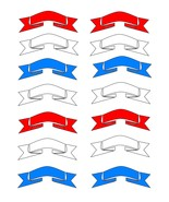 Red white Blue Ribbons4-Digital Download-ClipAr... - $3.00