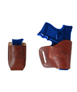 New Barsony Burgundy Leather Yaqui Holster + Mag Pouch Smith & Wesson M&... - $44.99