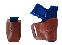 New Barsony Burgundy Leather Yaqui Holster + Mag Pouch Smith&Wesson Comp... - $44.99
