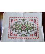 Paragon Needlecraft 100% Linen Embroidery Design Finished Placemat - $18.81