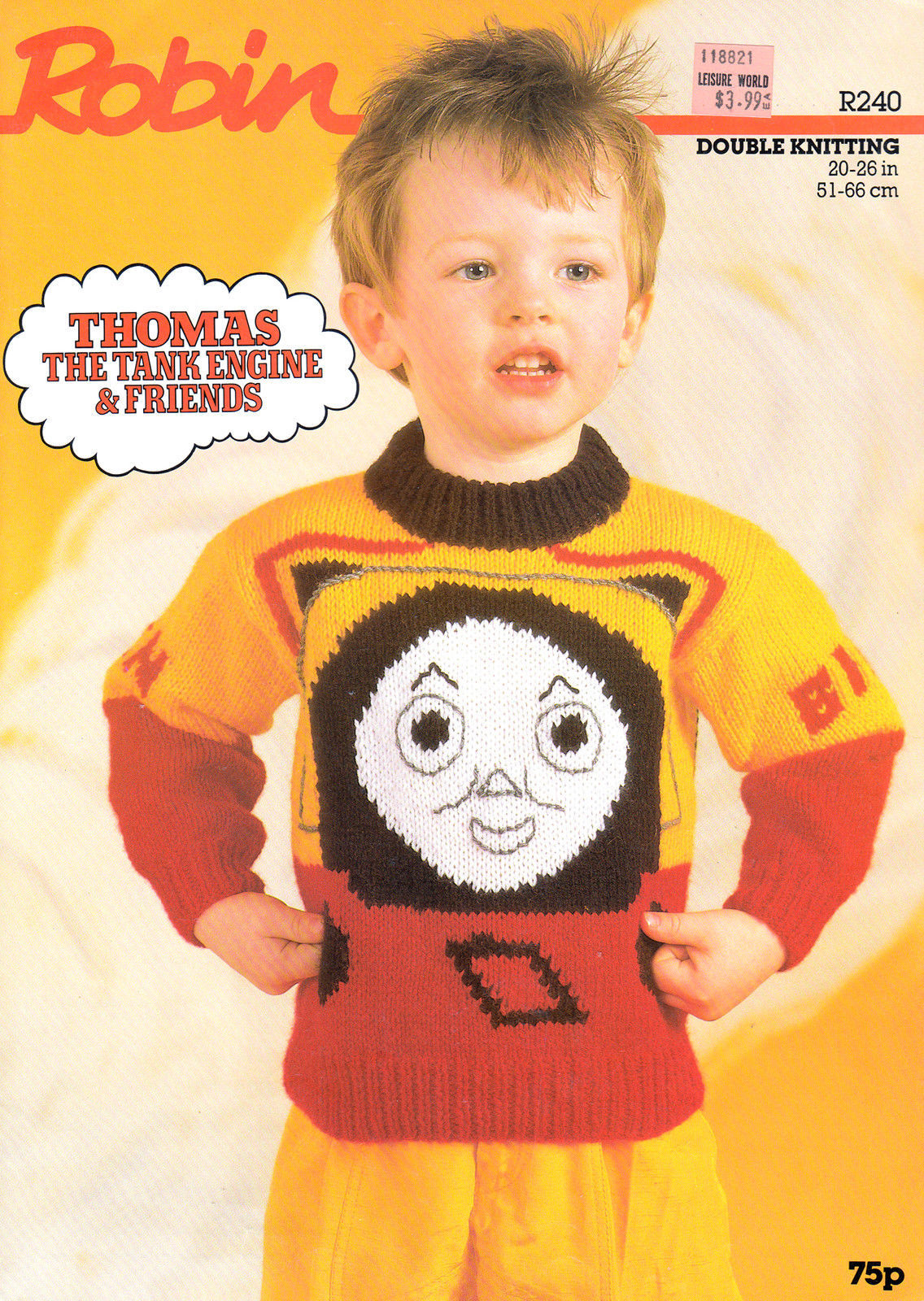 "Primary image for THOMAS TANK ENGINE & FRIENDS BEN & BILL 20 - 26"" SWEATER ROBIN 240 DK"