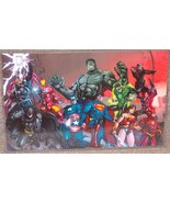 The Avengers & Justice League Glossy Print 11 x 17 In Hard Plastic Sleeve - $24.99