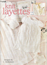 Knit Layettes For Baby * Leisure Arts #3191 Gorgeous! - $9.98