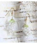 Judy Strobel Ice Wine Grape Earrings clear quar... - $20.00
