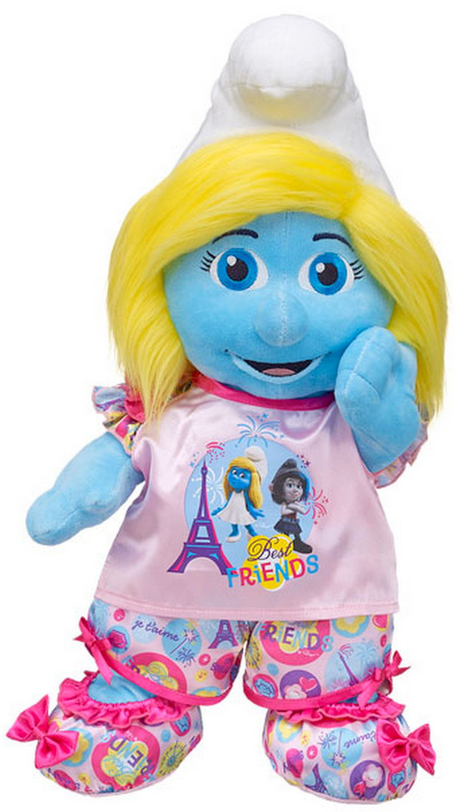 Build a Bear Smurfette and Vexy Doll Set with PJs Slippers Outfit 16 in. Plush