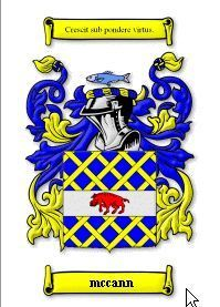 MCCANN SURNAME COAT OF ARMS PRINT - GENEALOGY Bonanza