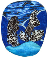 Sea and Sky: Quilted Art Wall Hanging - $245.00