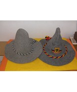 Two Traditional German / Bavarian Hats - Like New Condition  - $100.00