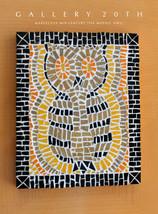 MARVELOUS! MID CENTURY MODERN OWL TILE MOSAIC WALL ART! VTG 50S ATOMIC D... - $1,500.00