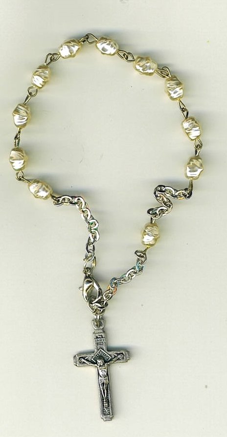 One decade rosary white 3060a 001