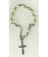 One Decade White  Bracelet Rosary - 3060A - $17.95