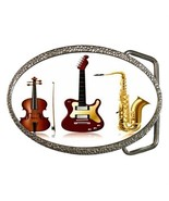 MUSICAL INSTRUMENTS ORCHESTRA BELT BUCKLE CHROME - $12.99
