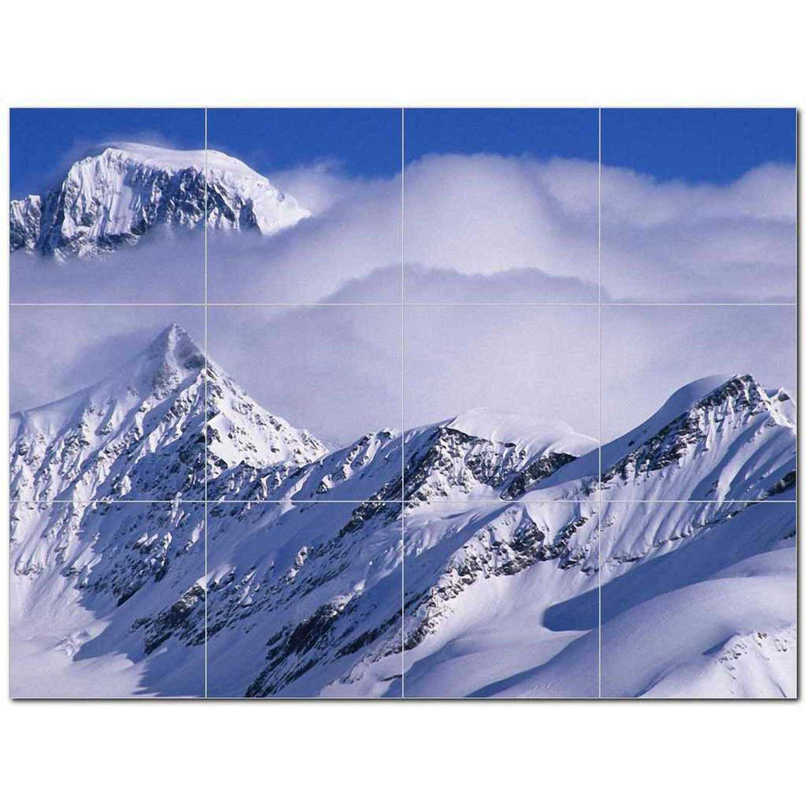 Primary image for Mountain Photo Ceramic Tile Mural Kitchen Backsplash Bathroom Shower BAZ405500