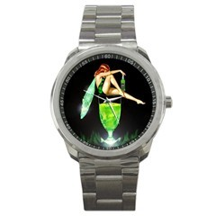 ABSINTHE GREEN FAIRY SPIRITS SPORTS WATCH - NICE! Bonanza