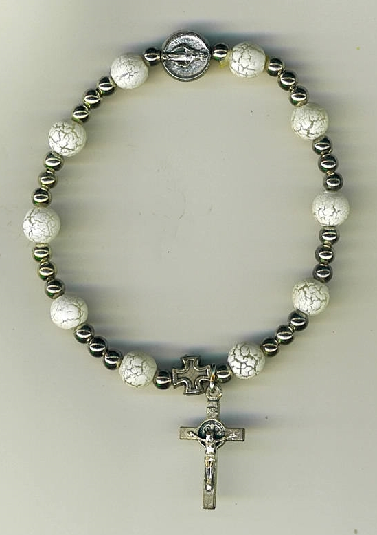 One decade rosary white 3209a 001