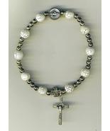 One Decade White  Bracelet Rosary - 3209A/W - $17.95
