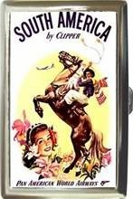 PAN AM SOUTH AMERICA S CIGARETTE MONEY CARD CASE NEW! Bonanza