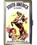 PAN AM SOUTH AMERICA S CIGARETTE MONEY CARD CASE NEW! - $16.99