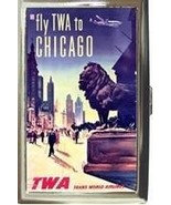 TWA AIRLINES CHICAGO CIGARETTE MONEY CARD CASE NEW! - $16.99