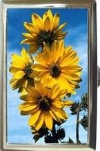 SUNFLOWERS FLOWER FLORAL CIGARETTE MONEY CARD CASE Bonanza