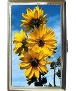SUNFLOWERS FLOWER FLORAL CIGARETTE MONEY CARD CASE - $16.99