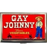 GAY JOHNNY TEXAS VEGETABLES AD CIGARETTE, MONEY CASE! - $16.99