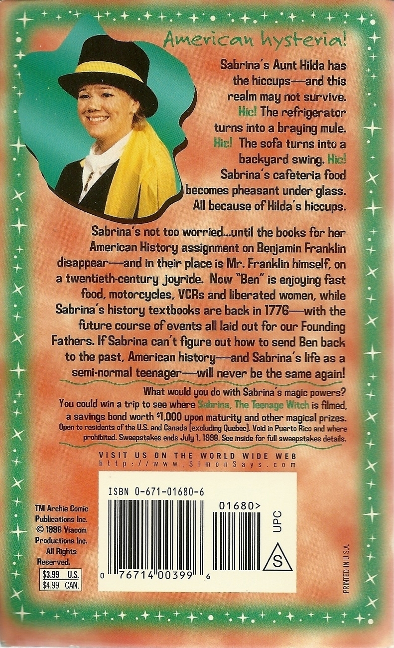 Sabrina The Teenage Witch Ben There Done That No. 6 Joseph Locke Softcover Book