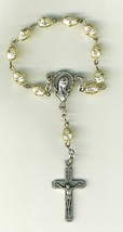 One Decade White  Bracelet Rosary - 2064A