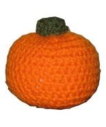 Plush Orange Pumpkin for Halloween or Fall Decor, Crocheted, Four Inches... - $8.50