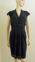New Adorable ROBERTO CAVALLI Black Chiffon Pleated Studded Dress Sz.44/10 - £176.12 GBP