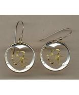 "U.S. dime ""90% silver"" (Special cut design), cut coin earrings - $74.00"
