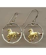 """Uruguay 10 centesimal (Horse) """"aluminum - bronze"""", cut coin earrings - $85.00"""