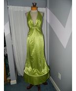 Cire' size 8 Formal Prom pageant Cruise party dress, Green Halter New wi... - $99.99