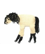 Plush Stuffed Knitted Horse Buckskin Tan Body With Black Points - $28.00