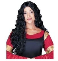 Womens Medieval Renaissance Costume Wig Adult Long Black Wavy Carnival F... - $14.84