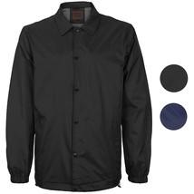 Men's Lightweight Water Resistant Button Up Nylon Windbreaker Coach Jacket